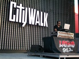 DJ at City Walk Hollywood, CA